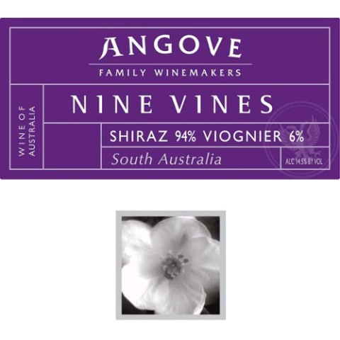Angove Family Winemakers Nine Vines Shiraz Viognier 2008 Front Label