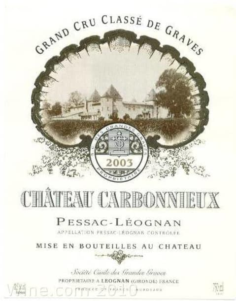 Chateau Carbonnieux  2003 Front Label