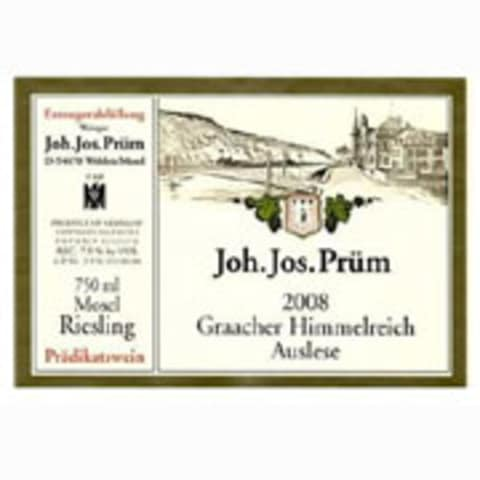J.J. Prum Graacher Himmelreich Auslese Riesling 2008 Front Label