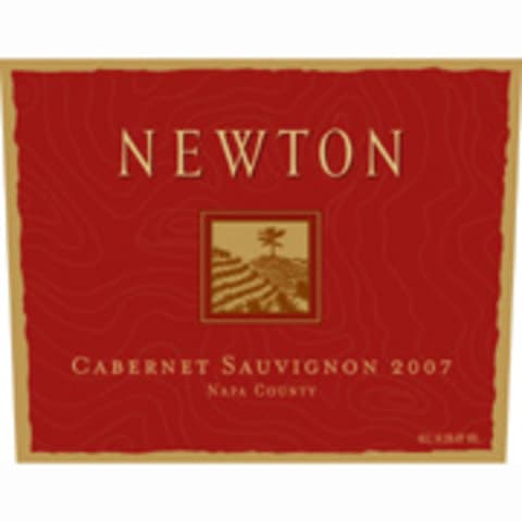 Newton Red Label Cabernet Sauvignon 2007 Front Label