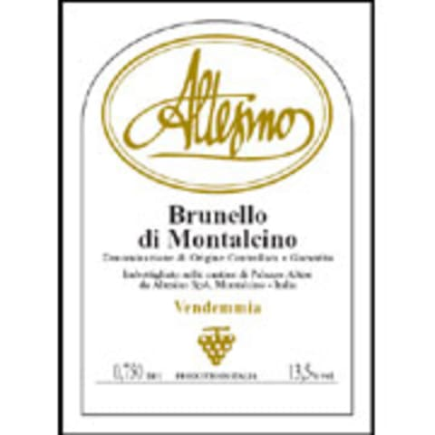 Altesino Brunello di Montalcino (375ML half-bottle) 2004 Front Label