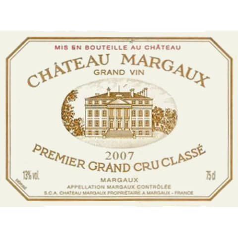 Chateau Margaux  2007 Front Label