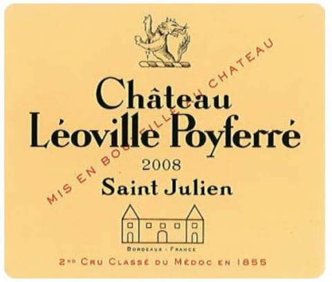 Chateau Leoville Poyferre  2008 Front Label