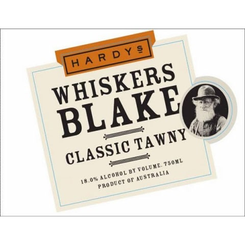 Hardys Whiskers Blake Tawny Port Front Label