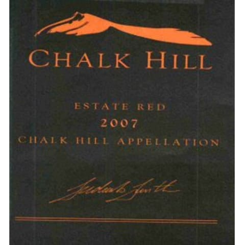 Chalk Hill Estate Red 2007 Front Label