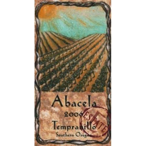 Abacela Estate Tempranillo 2006 Front Label