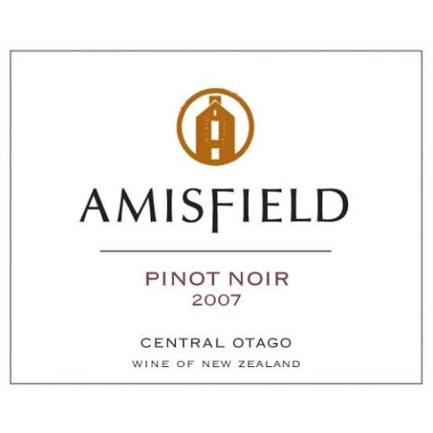 Amisfield Pinot Noir 2007 Front Label