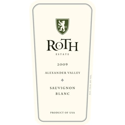 Roth Alexander Valley Sauvignon Blanc 2009 Front Label