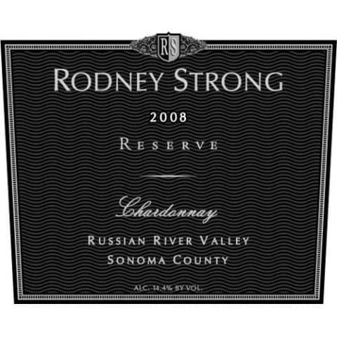 Rodney Strong Reserve Chardonnay 2008 Front Label