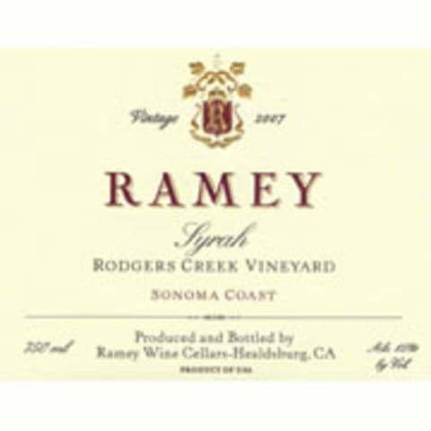 Ramey Rodgers Creek Vineyard Syrah 2007 Front Label