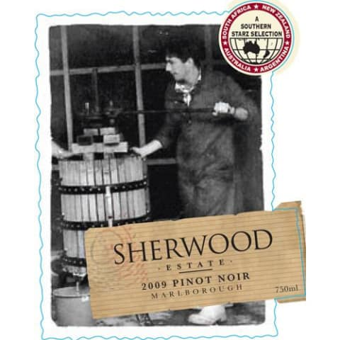 Sherwood Estate Pinot Noir 2009 Front Label