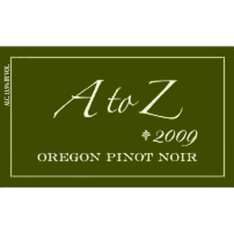 A to Z Pinot Noir 2009 Front Label