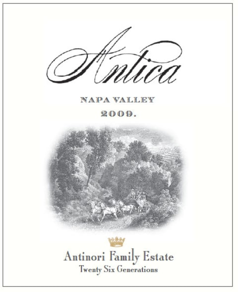 Antica Chardonnay 2009 Front Label