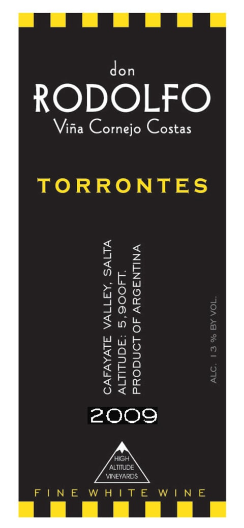 Don Rodolfo Torrontes 2009 Front Label