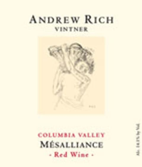 Andrew Rich Mesalliance 2007 Front Label
