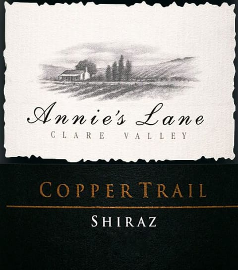 Annie's Lane Copper Trail Shiraz 2006 Front Label