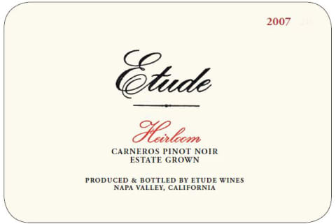 Etude Heirloom Pinot Noir 2007 Front Label