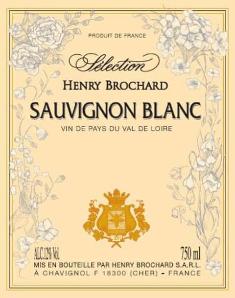 Domaine Hubert Brochard Sauvignon Blanc 2009 Front Label