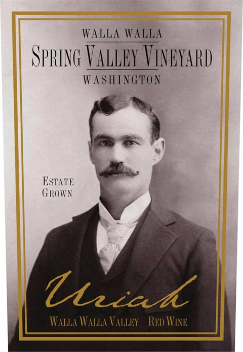Spring Valley Uriah 2008 Front Label