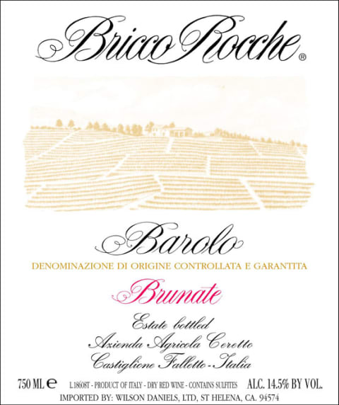 Ceretto Brunate Barolo 2006 Front Label