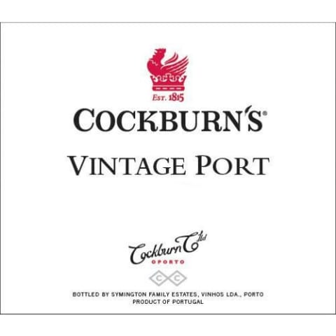 Cockburn's Vintage Port 2007 Front Label