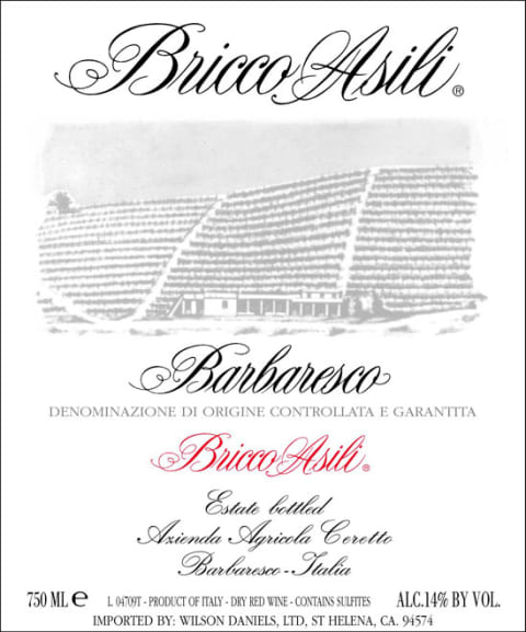 Ceretto Bricco Asili Barbaresco 2007 Front Label
