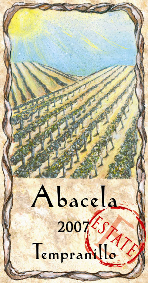 Abacela Estate Tempranillo 2007 Front Label