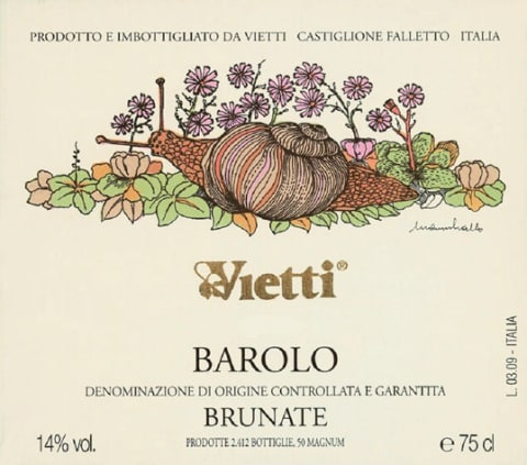 Vietti Barolo Brunate 2005 Front Label