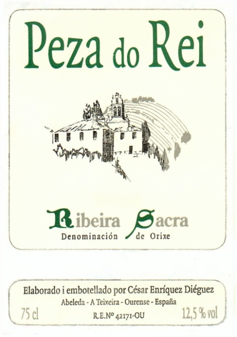 Adega Cachin Peza do Rei Blanco 2009 Front Label