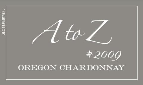 A to Z Chardonnay 2009 Front Label