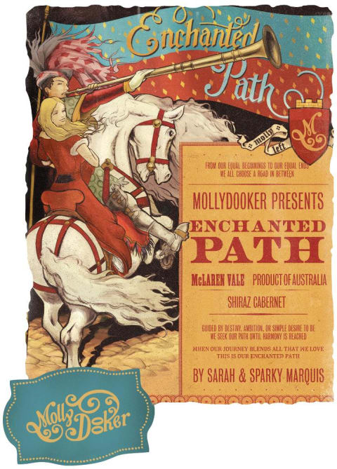 Mollydooker Enchanted Path 2010 Front Label