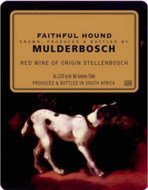Mulderbosch Faithful Hound 2008 Front Label