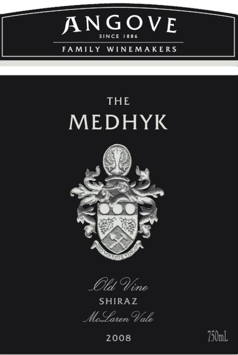 Angove Family Winemakers The Medhyk Shiraz 2008 Front Label
