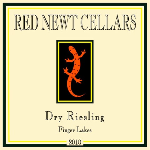 Red Newt Cellars Finger Lakes Dry Riesling 2010 Front Label