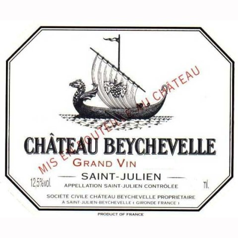 Chateau Beychevelle  1986 Front Label