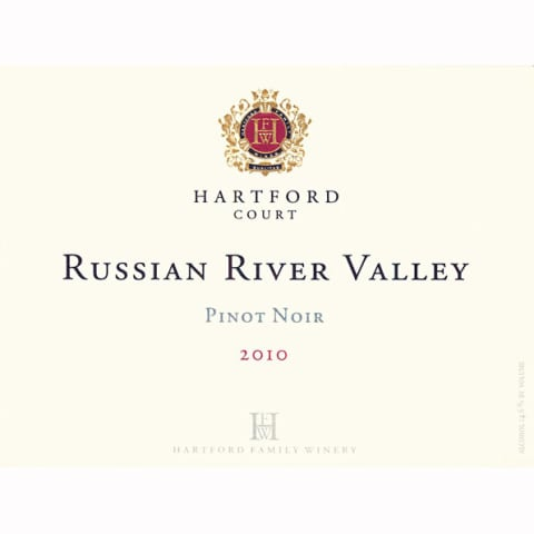 Hartford Court Russian River Pinot Noir 2010 Front Label