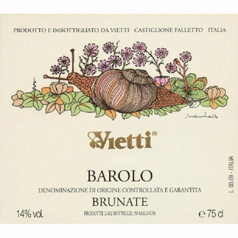 Vietti Barolo Brunate 2008 Front Label