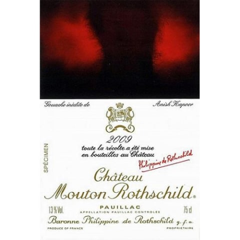 Chateau Mouton Rothschild  2009 Front Label