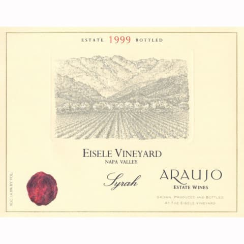 Araujo Eisele Vineyard Syrah 1999 Front Label