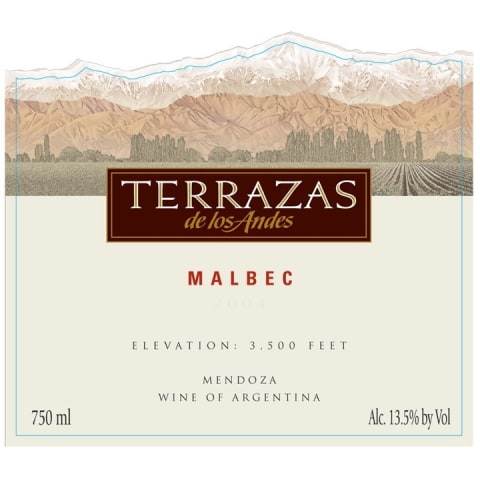 Terrazas De Los Andes Altos Del Plata Malbec 2011