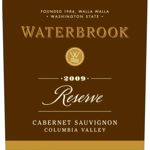 Waterbrook Reserve Cabernet Sauvignon 2009 Front Label