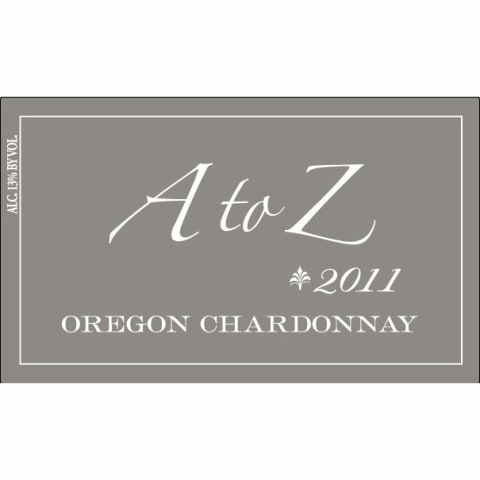 A to Z Chardonnay 2011 Front Label