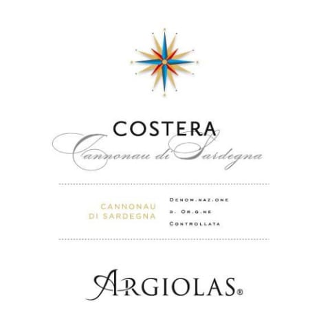 Argiolas Costera 2010 Front Label