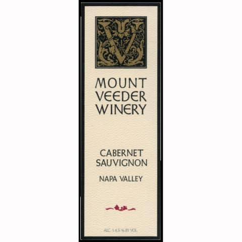 Mount Veeder Winery Cabernet Sauvignon 2010 Front Label