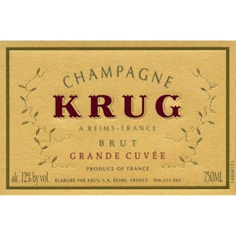 Krug Flanerie Grande Cuvee Brut in Leather Purse Front Label