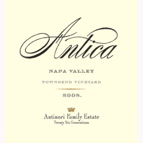 Antica Townsend Vineyard Cabernet Sauvignon 2008 Front Label