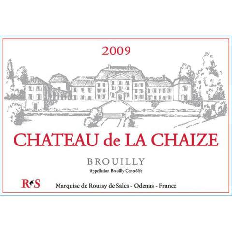 Chateau de la Chaize Brouilly 2009 Front Label