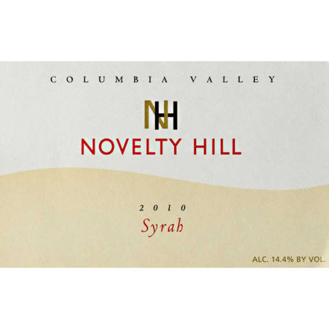 Novelty Hill Syrah 2010 Front Label