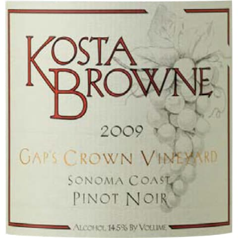 Kosta Browne Gap's Crown Vineyard Pinot Noir 2009 Front Label