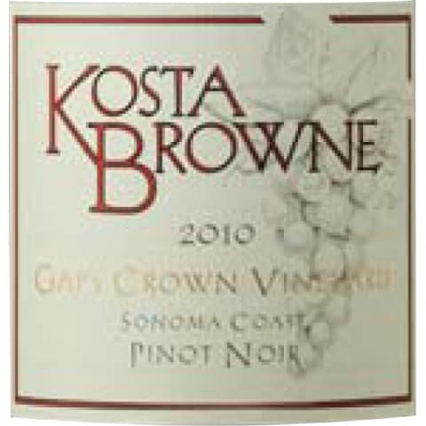 Kosta Browne Gap's Crown Vineyard Pinot Noir 2010 Front Label